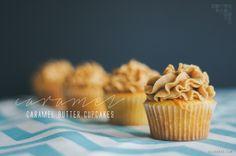 Caramel butter cupcakes. | Suz Bakes