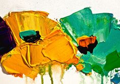 Contemporáneo Arte Floral pintura flor colores por OsnatFineArt