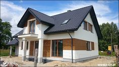 House Cladding, Wood Cladding, Roof Design, Exterior Design, House Outside Design, Wooden House, House Roof, Planer, Bungalow