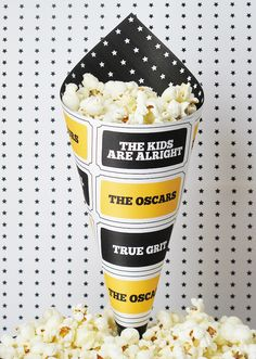 Free Oscars treat cone printable!