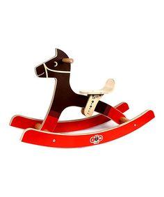 Look what I found on #zulily! Brown Rocking Horse #zulilyfinds
