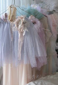 shabby lace,love these pastel colors so sweet