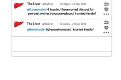 the liver imagined as a twitter user