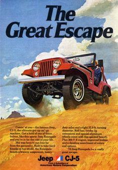 1974 Jeep CJ-5 Renegade Ad