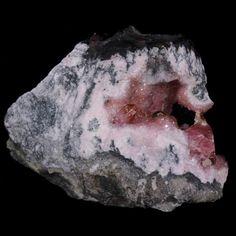 Rhodochrosite crystals, Shigaite on matrix, N'Chwaning l, KMF, SA (kal