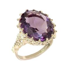 925 Sterling Silver Natural Amethyst Womens Solitaire Ring  Sizes 4 to 12 Available *** Click image for more details.Note:It is affiliate link to Amazon.