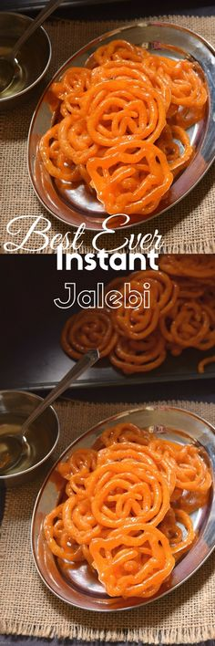 Best Ever Festive sweet - Holi/Diwali- Instant Jalebi! Pakistani Desserts, Indian Desserts, Indian Sweets, Indian Dishes, Iftar Recipes Pakistani, Turkish Sweets, Indian Snacks, Indian Food Recipes, Diwali Recipes