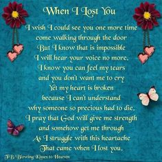 Joey, I will always love you and never stop thinking of you. Until we meet again RIP