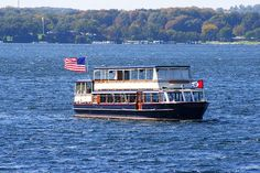 """""""Mail Delivery Boat Lake Geneva Wisconsin"""" by Kay Novy   http://kay-novy.artistwebsites.com/featured/mail-delivery-boat-lake-geneva-wisconsin-kay-novy.html"""