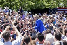 Democratic 2016 US presidential candidate Hillary Clinton arrives to make her official launch address on Roosevelt Island in New York, N.Y. on June 13, 2015. (Photo by Andrew Gombert/EPA)