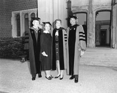 Hillary at commencement with Ruth M. Adams, president of Wellesley, and distinguished guests, 1969.