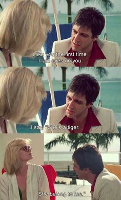 Uploaded by Mia Miu. Find images and videos about quote, couple and scarface on We Heart It - the app to get lost in what you love. Scarface Film, Elvira Scarface, Scarface Poster, Elvira Hancock, Scareface Quotes, Film Quotes, Qoutes, Al Pacino, Montana
