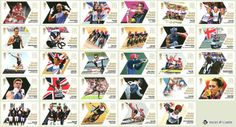 London-2012-Olympic-Games-Complete-Set-29-Gold-Medal-Winners-Mint-Stamps-Team-GB