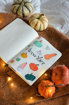 The best of seasons's back and it's time for my November Bullet Journal layout - are you ready for a warm and cozy Pumpkin Bujo Setup? Autumn Bullet Journal, Bullet Journal Layout, Spice Things Up, Things To Come, Pastel Colors, Colours, Pumpkin Pictures, Chalk Markers, Pumpkin Decorating