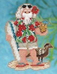 Hawaii Santa Mill Hill Tropical Santas Stitched and Beaded Kit