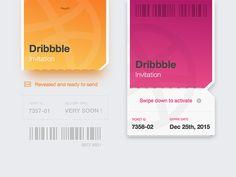 Dribbble Invitation Ticket - 8th shot