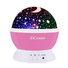 Ecandy Constellation Night Light Projector Lamp 360 Degree Rotating 3 Mode Romantic Cosmos Star Sky Moon Bedroom Light for Children,Baby Bedroom,Christmas Gifts,Pink. For price & product info go to: https://all4babies.co.business/ecandy-constellation-night-light-projector-lamp-360-degree-rotating-3-mode-romantic-cosmos-star-sky-moon-bedroom-light-for-childrenbaby-bedroomchristmas-giftspink/