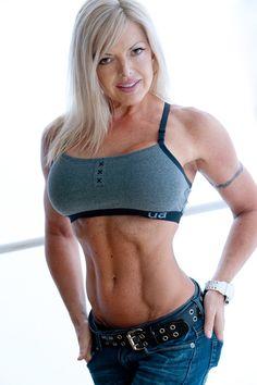women bodybuilder Ninette Terhart