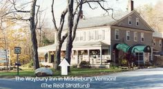 """Waybury Inn is the real """"Stratford Inn"""" on The Newhart Show! In Middlebury, Vermont. This blog post has snapshots of scenes throughout the inn & what the real inn looks like today!"""
