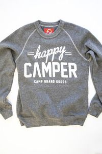 WOMENS HAPPY CAMPER CREWNECK SWEATSHIRT