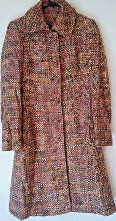 Guess by Marciano Wool Blend Tweed Multi-Color Small Trench Coat #Marciano #Trench