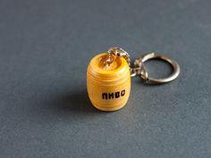 Cask beer keychain Wood keychainpersonalized keychain от EcoGG