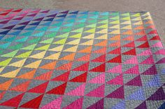 Quilting on this rainbow quilt is stunning. Don't mess with my rainbow (or with my unicorn) by Buttontree Lane, via Flickr
