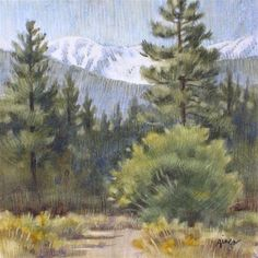 "Daily Paintworks - ""San Gorgonio Mountain"" - Original Fine Art for Sale - © Ginger Pena"