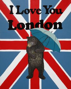 Our I Love You London Print celebrates the UK capital city with with a Union Jack (and umbrella for England's notorious rain). Designed by Annie Galvin at 3 Fish Studios in San Francisco, California, and printed on-site in the Outer Sunset with 8-color UltraChrome K3™ inks on 300 gsm Hot Press Bright paper. Archival, highest possible quality.