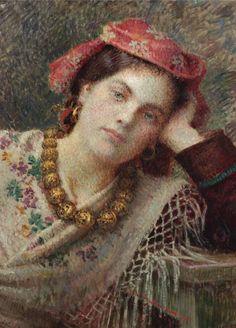 El Hurgador [Arte en la Red]: Vlaho Bukovac [Pintura] European Paintings, Impressionist, Mona Lisa, 19th Century, Modern Art, Auction, Impressionism, Contemporary Art
