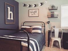 122 Likes, 24 Comments - Dream Nest Decor (Dream Nest Real Estate & Home Design). Cool Bedrooms For Boys, Big Boy Bedrooms, Boys Bedroom Decor, Boys Bedroom Ideas Tween, Boys Room Ideas, Preteen Boys Room, Teen Boy Rooms, Bedroom Desk, Bedroom Dressers