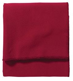 Amazon.com: Pendleton Eco-Wise Wool Washable Queen Red Blanket: Home & Kitchen