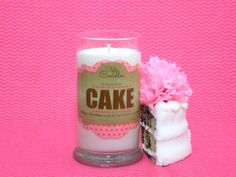 Our delicious cake scented ring or necklace candle.