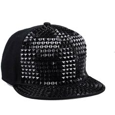 b6a4ce85a4f Vbiger Pyramid Plastic Studs Bling Flat Hip Hop Cap Rivet Spikes Hat...  ( 9.50) ❤ liked on Polyvore featuring accessories