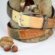 Belt manufactured with crocodile leather #Branni1970 #Leather #MadeInItaly