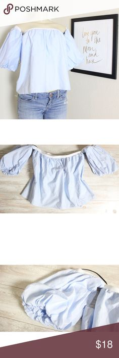Off the shoulder Blouse⭐️ Off the shoulder Blouse EUC, looks new, size large, such a cute shirt and the color is stunning ⭐️ Forever 21 Tops Blouses