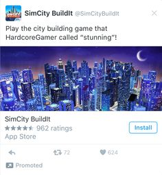 Simcity Game Twitter Ad Example City Buildings, Ads, Twitter