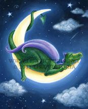 I like the idea of a dragon sleeping on the moon, I'm thinking I could draw a more beautiful/cuter dragon. :)