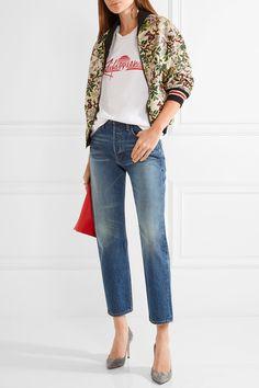 FRAME - Rigid Re-release Le Original High-rise Straight-leg Jeans - Mid denim - 29