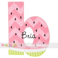 Hang to Dry Applique - Watermelon Alpha, $9.99 (http://www.hangtodryapplique.com/watermelon-alpha/)