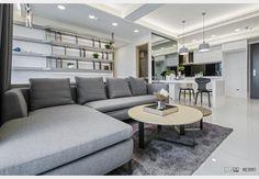 聚富圓圓_現代風設計個案—100裝潢網 Couch, Furniture, Home Decor, Settee, Decoration Home, Sofa, Room Decor, Home Furnishings, Sofas