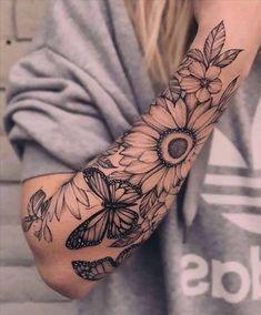 Half Sleeve Tattoos Forearm, Shoulder Sleeve Tattoos, Tattoos For Women Half Sleeve, Best Sleeve Tattoos, Cute Tattoos, Body Art Tattoos, Tattoo Ink, Women Sleeve, Tatoos