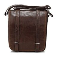 Vintage Handmade Antique Leather Messenger Satchel / Ipad Bag in Dark Brown