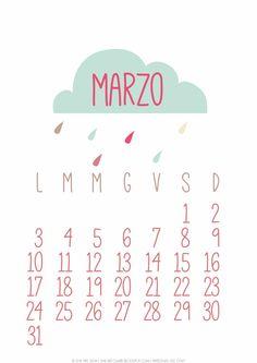 Calendario Marzo 2014 {free printable} | She art