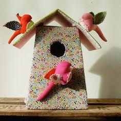 Tamar Mogendorff Liberty print birdhouse via Selvedge dry goods