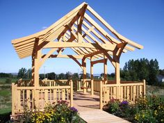 Pretty pavilion from Wise Owl Joinery in Port Williams, Nova Scotia https://www.wiseowljoinery.com/gallery/?utm_content=bufferbef06&utm_medium=social&utm_source=pinterest.com&utm_campaign=buffer