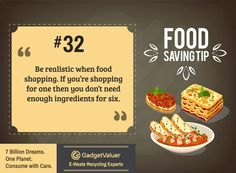 Food Saving Tip 32 | 150+ Sustainability Resources | #WED2015 #7BillionDreams #Sustainability