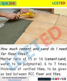 Civil Engineering Handbook, Civil Engineering Works, Engineering Notes, Civil Engineering Construction, Construction Design, Hall Flooring, Flooring Tiles, Wall And Floor Tiles, Concrete Design