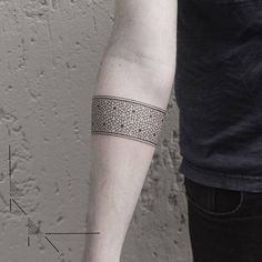 Tattoo Artist: rachainsworth. Tags: styles, Geometric, Blackwork, Fine Line, Bands, Armbands, Geometric Shapes. Body parts: Forearm.
