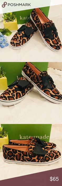 PRICE DROP Kate Spade faux leopard shoes ♠️ Kate Spade faux leopard shoes ♠️NWT! Amazing shoes, rubber sole and leather bows on the front. Make me an offer!!! kate spade Shoes